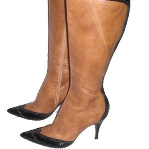 Marino Fabiani Brown Black Knee High Leather boots